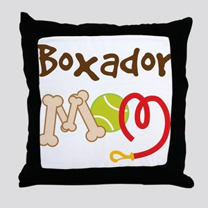 Boxador Dog Mom Throw Pillow